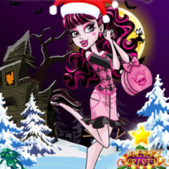 Draculaura Christmas Dress Up