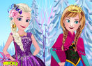 Elsa With Anna Dressup