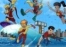 Kid Flash y Teen Titans en la Playa