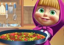 Masha & The Bear Cooking Tortilla Pizza
